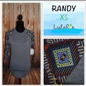 LuLaRoe Randy Women's Size XS Gray Shirt Geometric